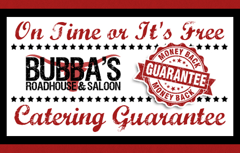 Bubba's Roadhouse Catering Lead Generation Certificate